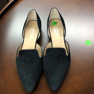 Franco Sarto Loafers. Leather Upper. Suede feel.